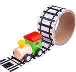 Image de Tape Spoorweg met locomotief Bigjigs
