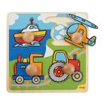 Afbeeldingen van Grote knoppen puzzel Vervoer Bigjigs