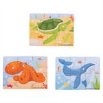 Afbeeldingen van 6 stukjes puzzels Zeeleven 3 stuks Bigjigs