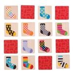 Afbeeldingen van Memoryspel Sokken zoeken Bigjigs