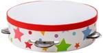 Bild von Houten tamboerijn wit met sterren Bigjigs