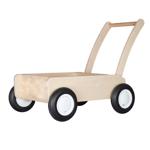 Picture of Luxe loopwagen- white wash Blokkenduwwagen Hout met rechte rand  Van Dijk Toys