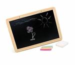 Afbeeldingen van Schoolbord met kleurenkrijt