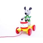 Afbeeldingen van Trekfiguur muis met een trommel
