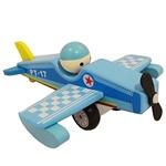Bild von vliegtuig blauw met vaste pop