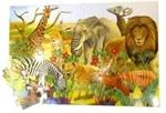 Afbeeldingen van Gigantische legpuzzel vloerpuzzel 48 stuks Safari