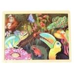 Bild von Puzzel regenwoud in frame 24 stukjes