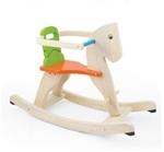 Picture of Hobbelpaard Pintoy blank oranje zitting en groene leuning