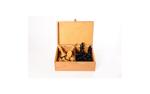 Afbeeldingen van Schaakstukken vilt palm hout in luxe kist