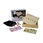 Afbeeldingen van Lottospel kienset in houten kist