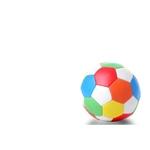 Afbeeldingen van Softbal multikleuren diameter 10 cm.