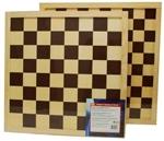 Afbeeldingen van Schaakbord dambord bruin 40 x 40 cm