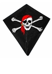 Afbeeldingen van Vlieger diamant- piraat 1 lijn 88 x 82 cm