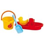 Bild von Set met boot en emmer strand-waterspeelgoed Gowi