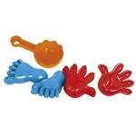 Bild von Zandvormpje handen en voeten 4 stuks strand-waterspeelgoed Gowi