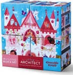 Afbeeldingen van 4 blokken puzzel Poppenhuizen Prinses
