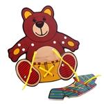 Afbeeldingen van Rijg- en strikpuzzel Beertje - Harmony Toys