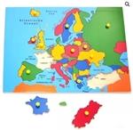 Afbeeldingen van Knop- legpuzzel Europa 3+ - Harmony Toys