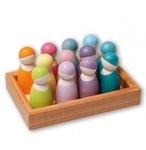 Picture of 12 regenboogvrienden set pastel Grimm's