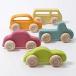 Afbeeldingen van Auto set Slimline gekleurd hout 5-delig Grimm's