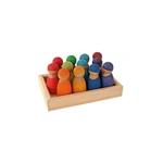 Picture of 12 regenboogvrienden set gekleurd kersenhout Grimm's