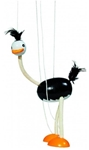 Afbeeldingen van Marionette Struisvogel Hout GOKI 38 cm