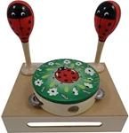 Afbeeldingen van Muziekset Lieveheersbeestje sambaballen en tamboerijn