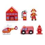 Bild von Speelset hout Brandweer 7-delig - Vigatoys