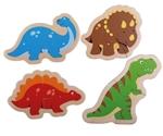 Afbeeldingen van 2 stukjes puzzels Dinosaurus