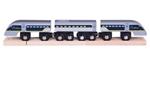Afbeeldingen van Eurostar e320 sneltrein houten treinbaan Bigjigs