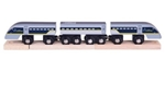 Image de Eurostar e320 sneltrein houten treinbaan Bigjigs
