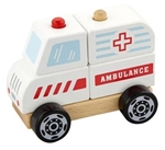 Bild von Blokken-stapelpuzzel Ambulance - Vigatoys