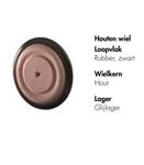 Image de Houten wiel met rubberband Ø 4 cm
