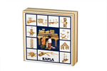 Afbeeldingen van Kapla kist 100 plankjes in blank Hout
