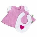 Bild von Rubensbarn Kids kleding Jurkje roze met slabbertje