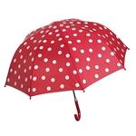 Afbeeldingen van Paraplu Rood met Witte stippen