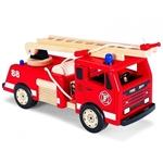 Afbeeldingen van Brandweerauto groot rood hout  Pintoy