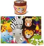 Afbeeldingen van Gigantische puzzel vloerpuzzel 48 stuks Jungle dieren