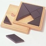 Bild von Tangram met zwarte houten stukken