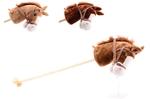 Afbeeldingen van Stokpaard hout met pluche hoofd