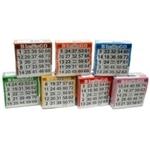 Afbeeldingen van Bingokaarten pak, 7 kleuren