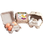 Bild von Eieren hout 4 in doosje - wit of bruin - Santoys