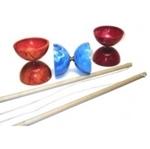 Afbeeldingen van Diabolo gekleurd met houten stokken