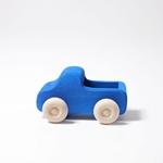 Afbeeldingen van Vrachtauto met open laadbak blauw 13,5 cm Grimm's
