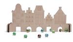 Afbeeldingen van Knikkerspel huisjes met knikkers BS Toys Buitenspeel