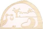Bild von Silhouet Geboorte Roze de Noest