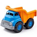 Afbeeldingen van Kiepauto dumper blauw/oranje - recycled plastic - Greentoys