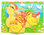 Afbeeldingen van Grote stukken legpuzzel  Eend met jongen