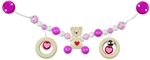 Afbeeldingen van Wagenspanner beertje met hart roze