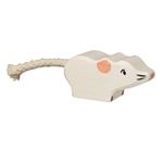 Afbeeldingen van Muis wit Holztiger